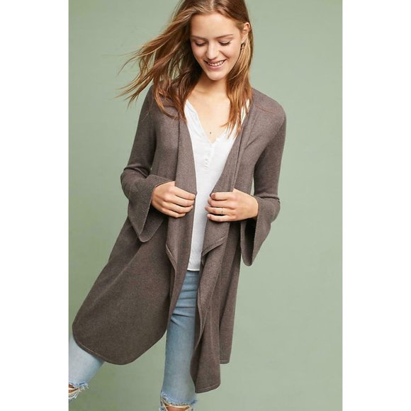 Moth Lyra Bell Sleeve Open Front Cardigan M NWT